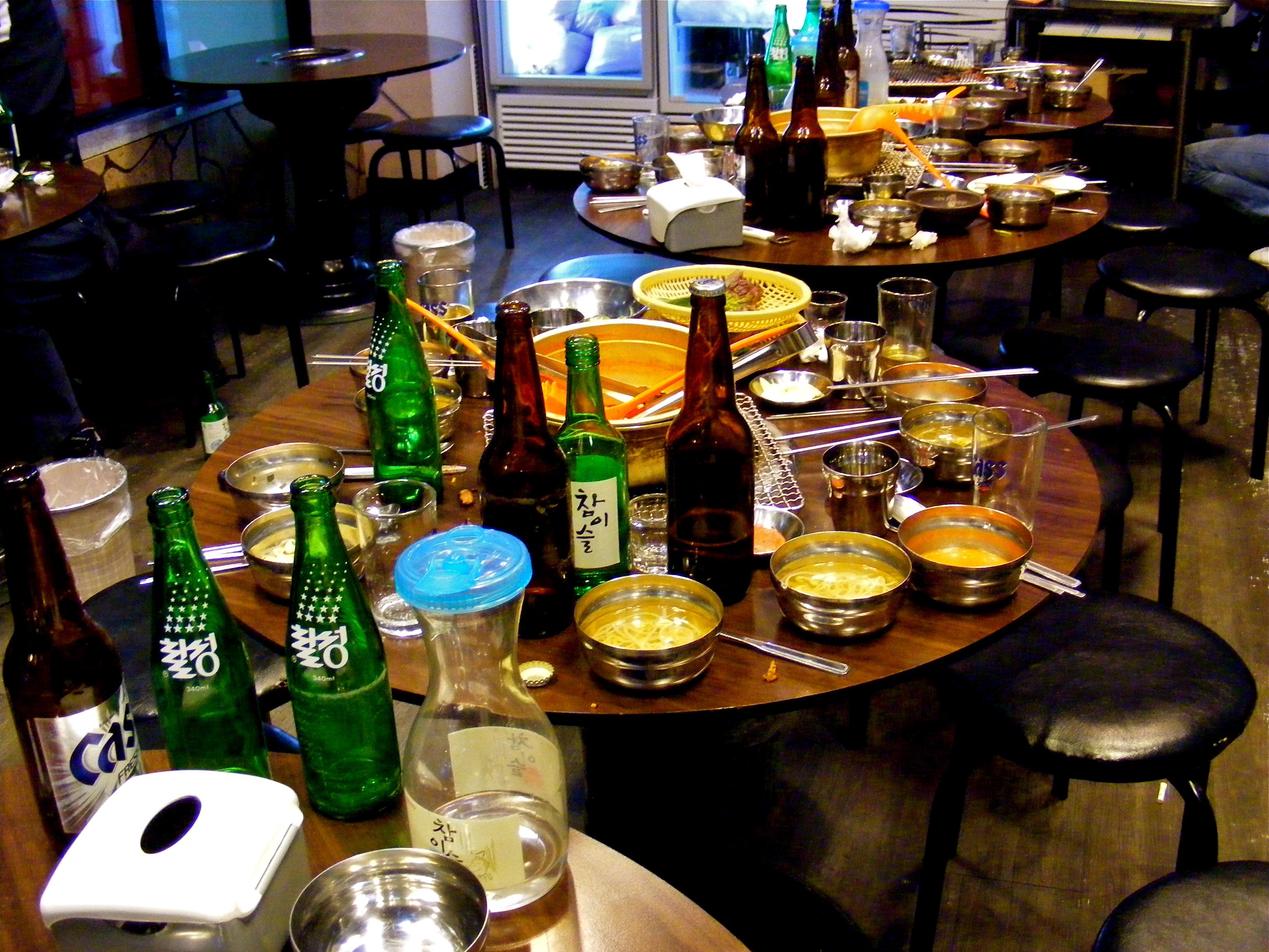 Beer and makkoli