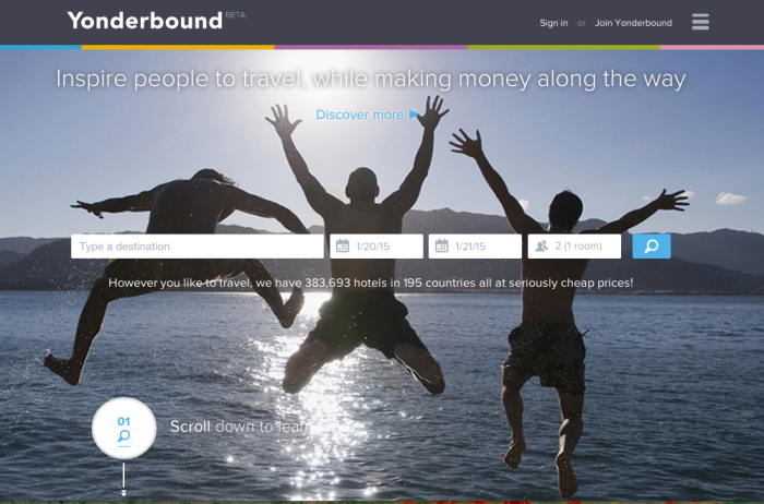 A visual approach to hotel bookings with Yonderbound