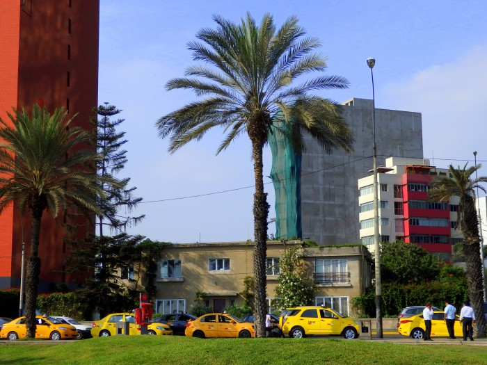 Yellow taxis in Lima