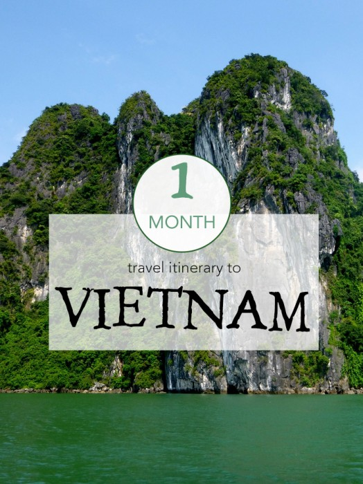 My 1 month Vietnam travel itinerary.