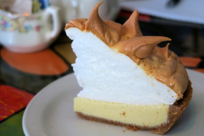 Key Lime Pie with Meringue at Blue Heaven, Key West