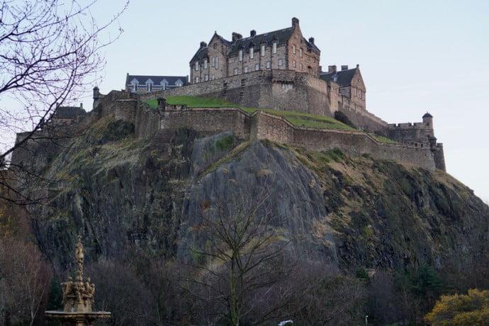 Edinburgh Castle Princes Street Gardens
