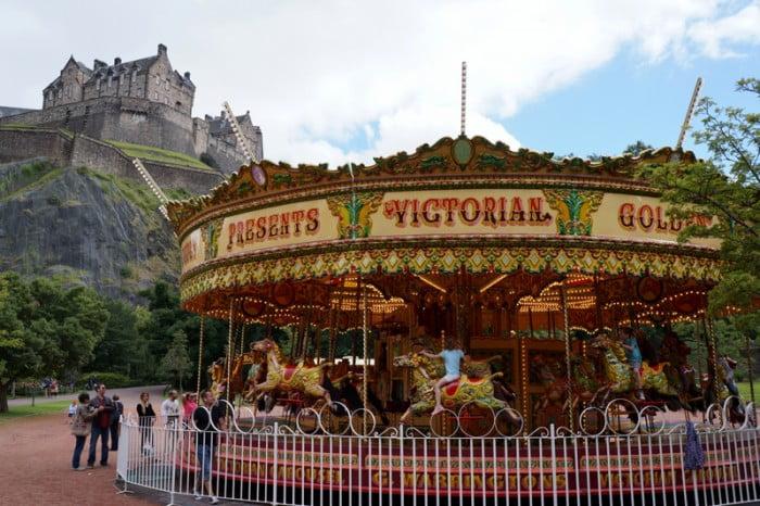 Edinburgh Princes Street Gardens Carousel