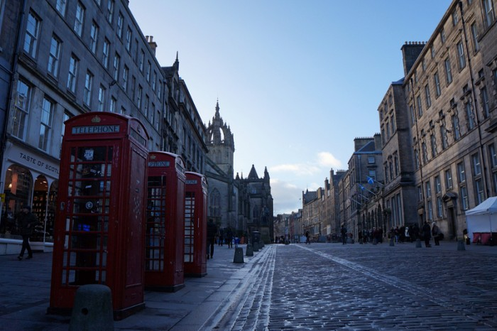 Edinburgh Royal Mile Telephone Box