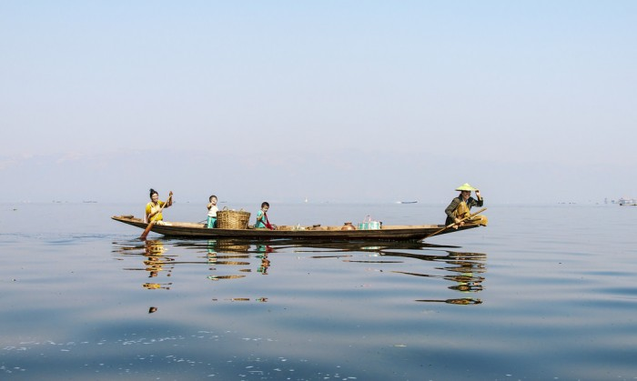 Boat on Inle Lake Myanmar