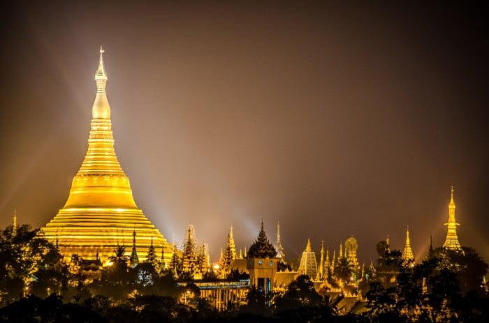 Schwedagon Pagoda Myanmar Burma