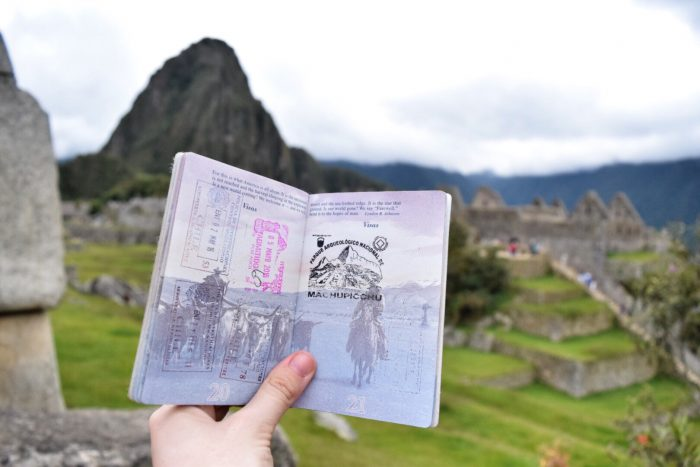 Get your passport stamped at Machu Picchu!