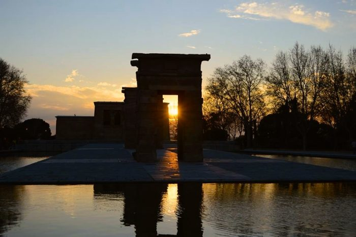 Watching the sunset at the Temple of Debod, Madrid