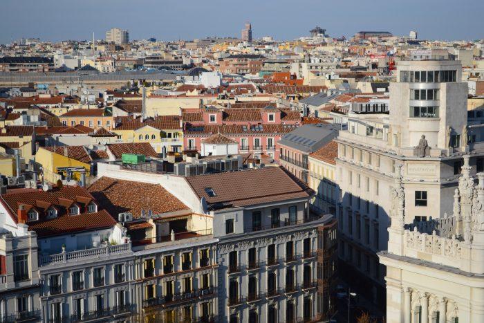 Rooftop views of Madrid