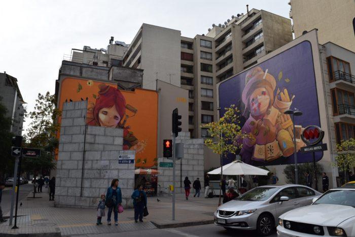 Cool street art in Santiago