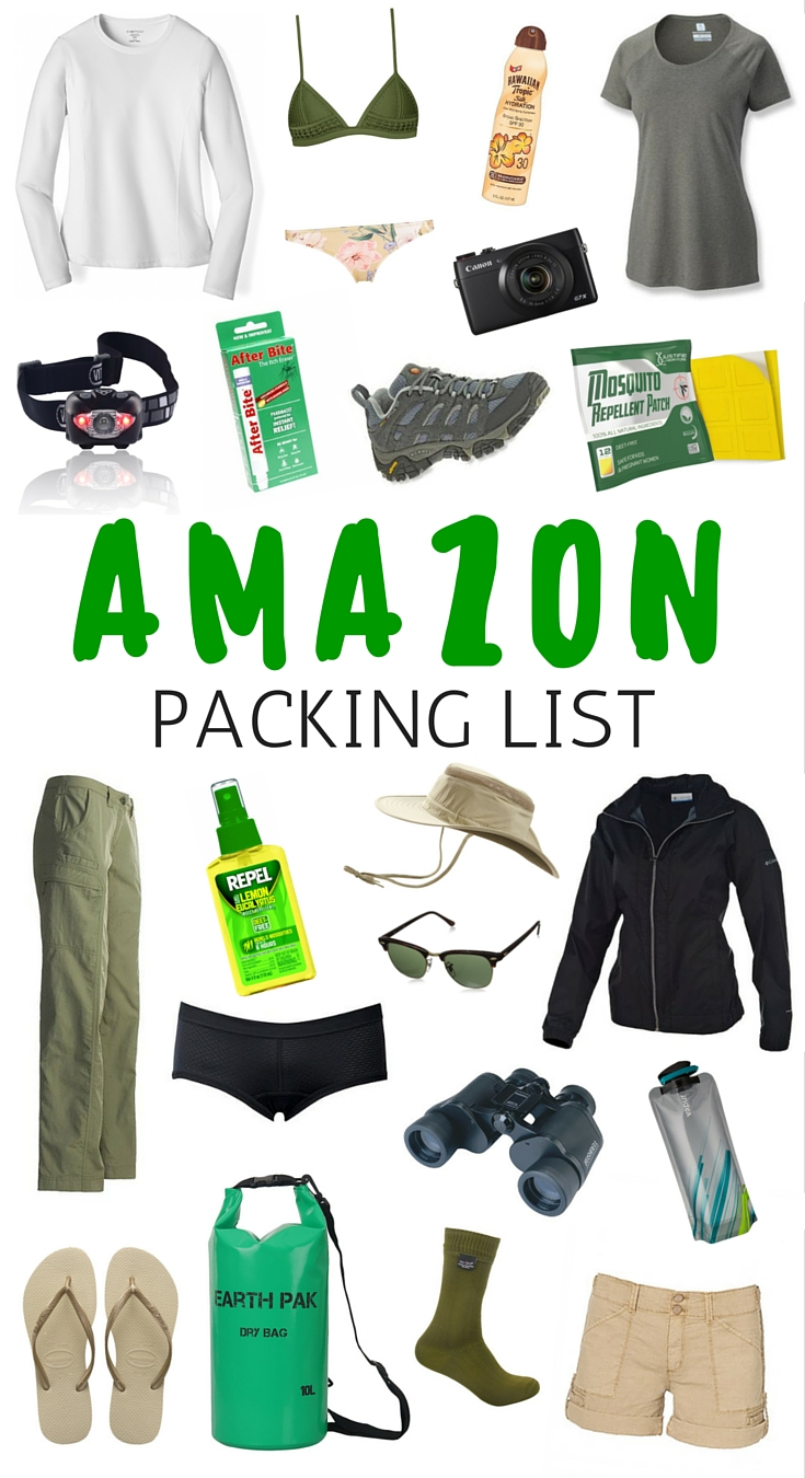What to pack for the Amazon | Travel Packing List