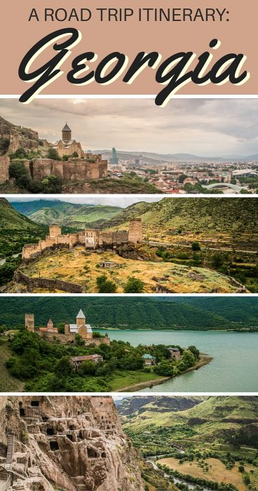 Georgia Road Trip: An itinerary for anyone planning to travel in Georgia, a land filled with castles, cave dwellings, churches, ruins, and majestic mountain ranges. This itinerary starts in Tbilisi and takes you a journey around Georgia.