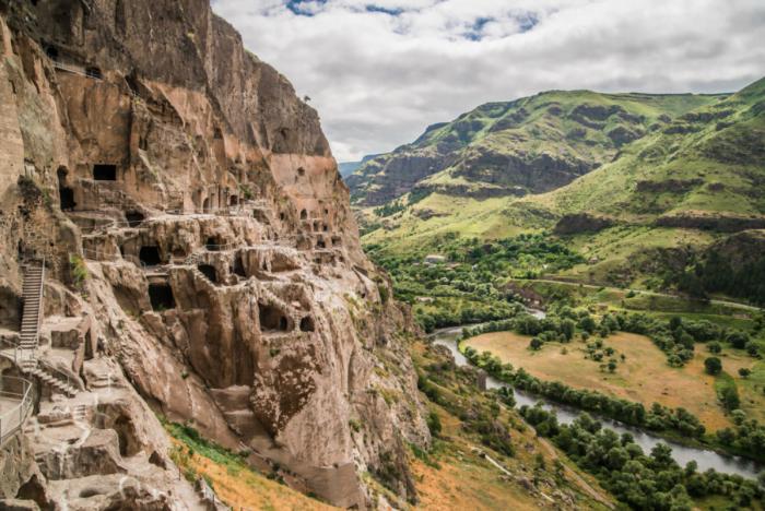 The cave dewllings of Vardzia in Georgia