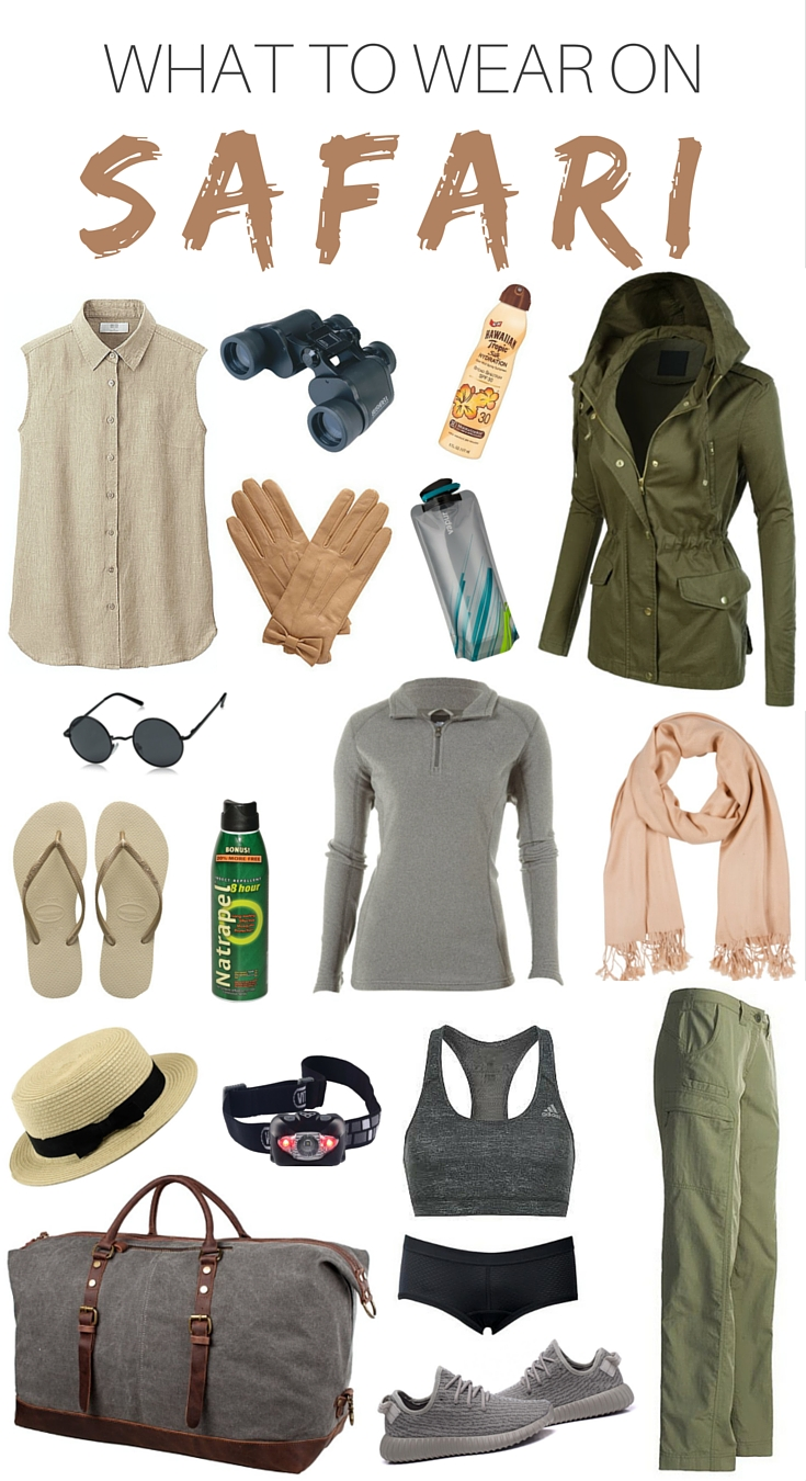 What to wear on Safari Packing List