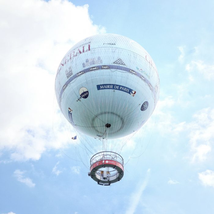Another unusual thing to do in Paris is to ride an air balloon at Parc André-Citroen.
