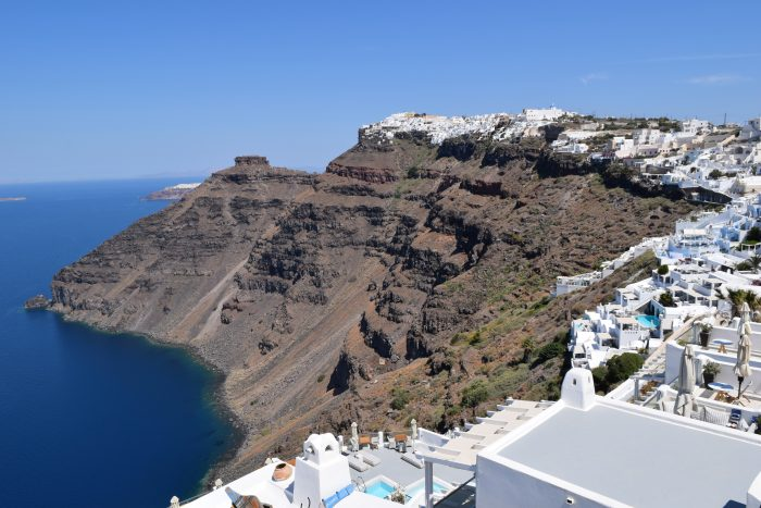 Caldera views in Santorini, Greece