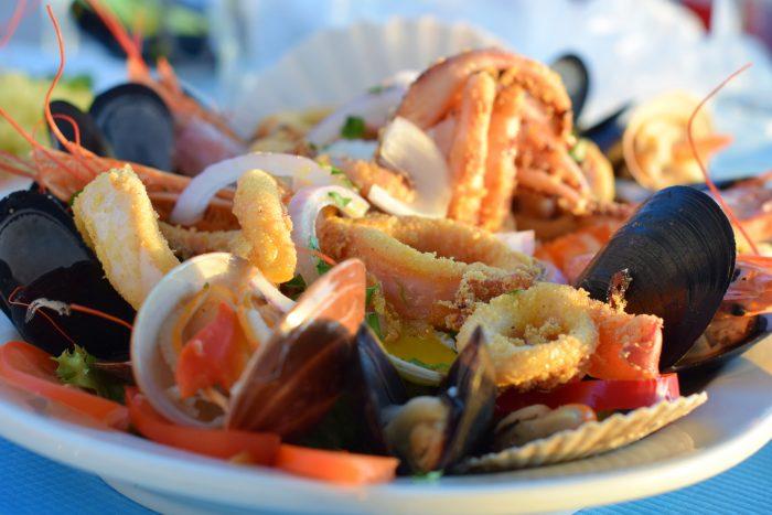 Enjoying Greek Food in Santorini, Greece
