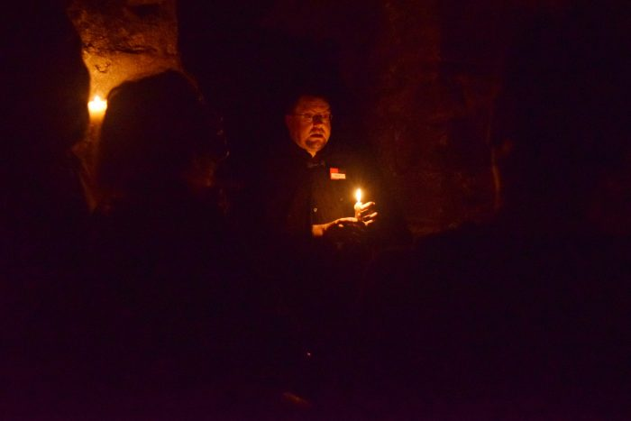 Going down into the vaults with Edinburgh haunted tours