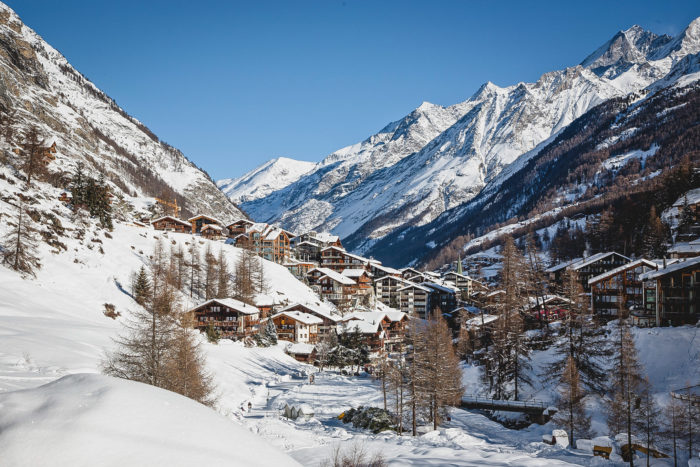 How about Zermatt for a winter getaway that involves skiing and cozy chalets.