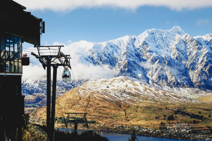 Queenstown, New Zealand in winter