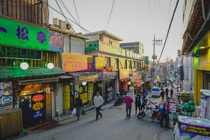 Where to stay in Seoul - Itaewon is a very international neighbourhood in Seoul and it also has good nightlife.