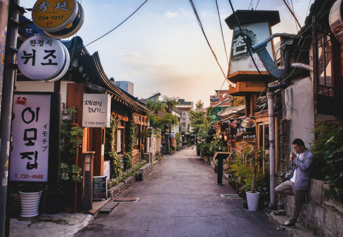 Where to stay in Seoul - Insadong is known for quiet side streets and tea houses.